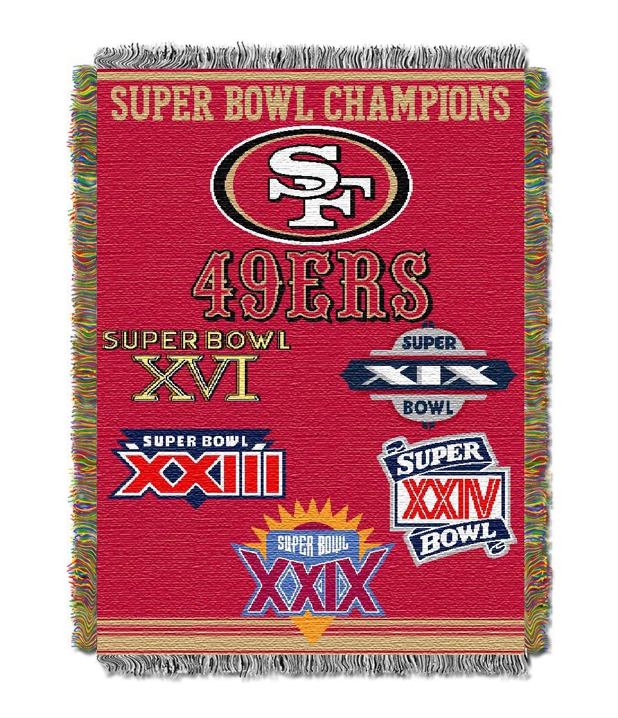 San Francisco 49ers Commemorative Super Bowl Tapestry Throw