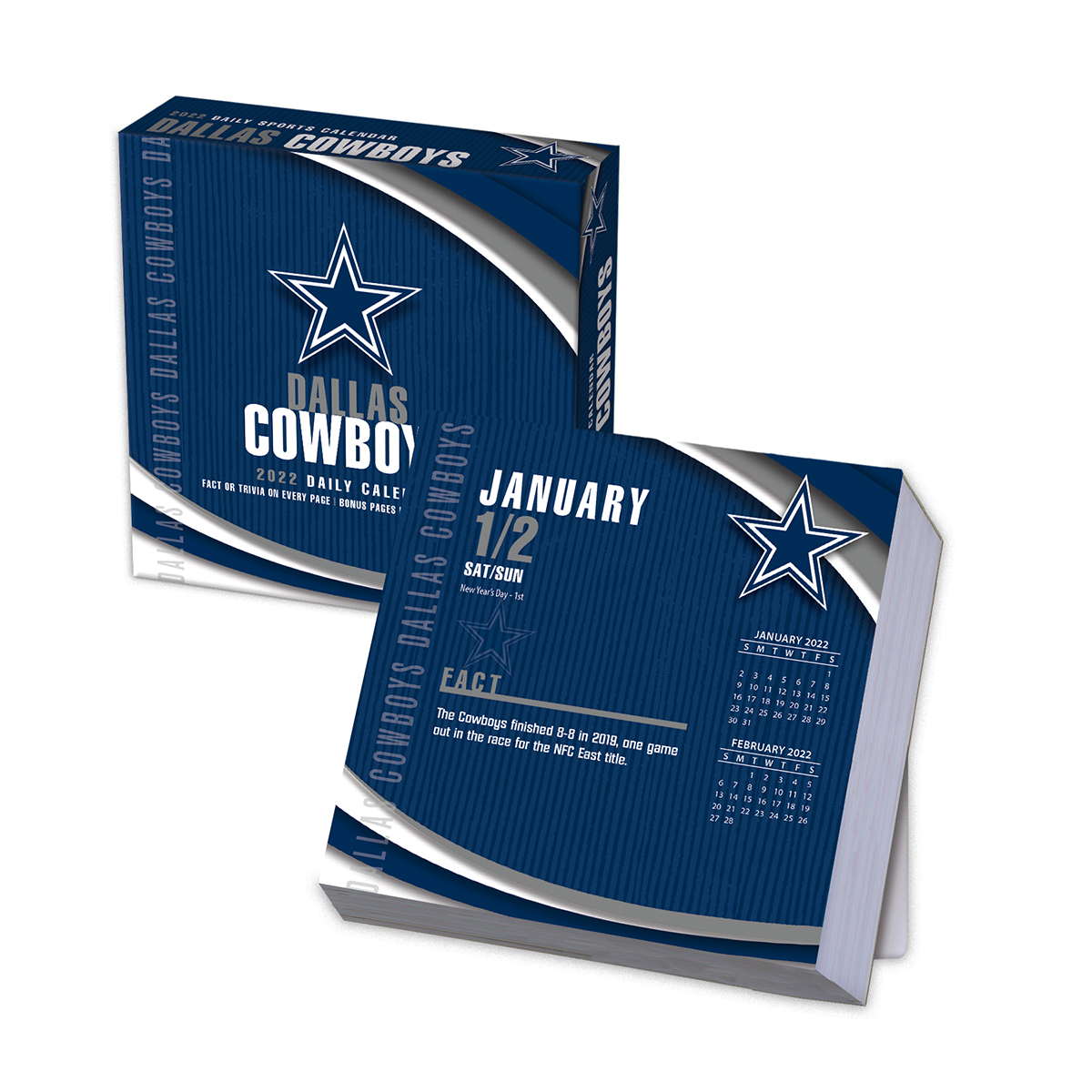 Dallas Cowboys 2018 NFL Page-A-Day Box Calendar