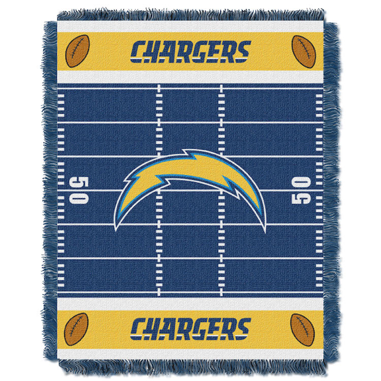 Los Angeles Chargers Woven Baby Blanket 36 x 48