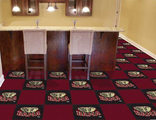 Alabama Crimson Tide Carpet Tiles 18x18 In Buy At Khc