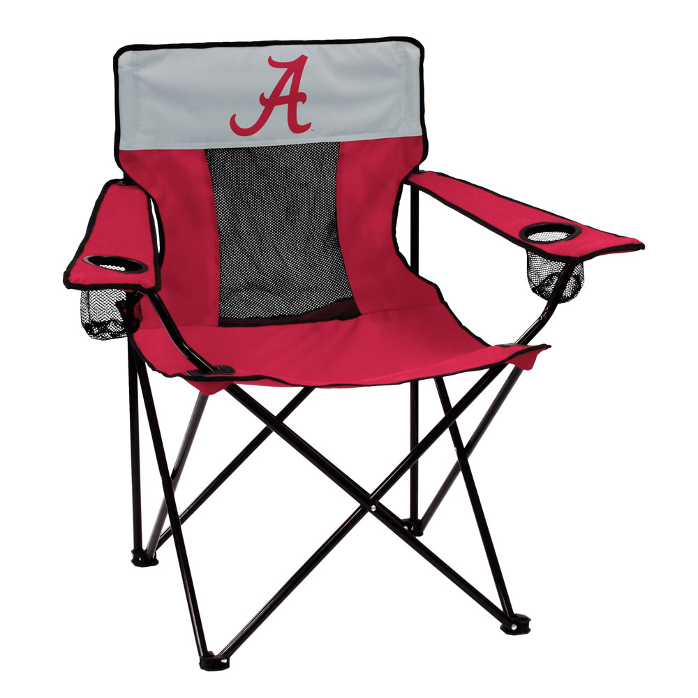 Alabama Crimson Tide ELITE logo folding camp style chair