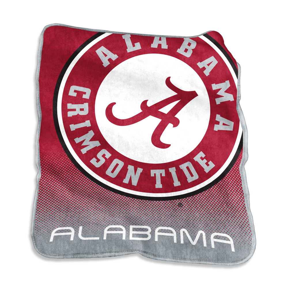 Alabama Crimson Tide Logo Raschel Blanket