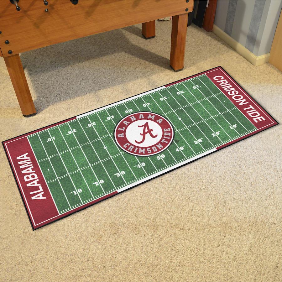 Alabama Crimson Tide Football Field Runner 30 X 72 Floor