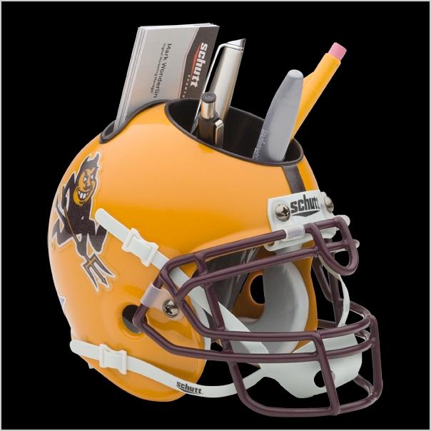 Schutt NCAA Western Illinois Leathernecks Football Helmet Desk Caddy