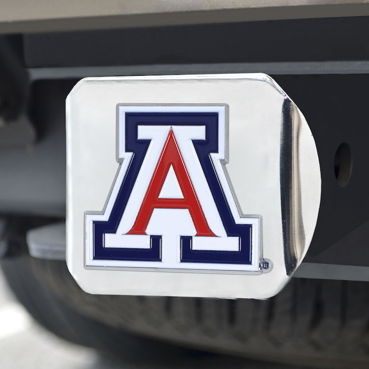 Arizona Wildcats Color Chrome Trailer Hitch Cover