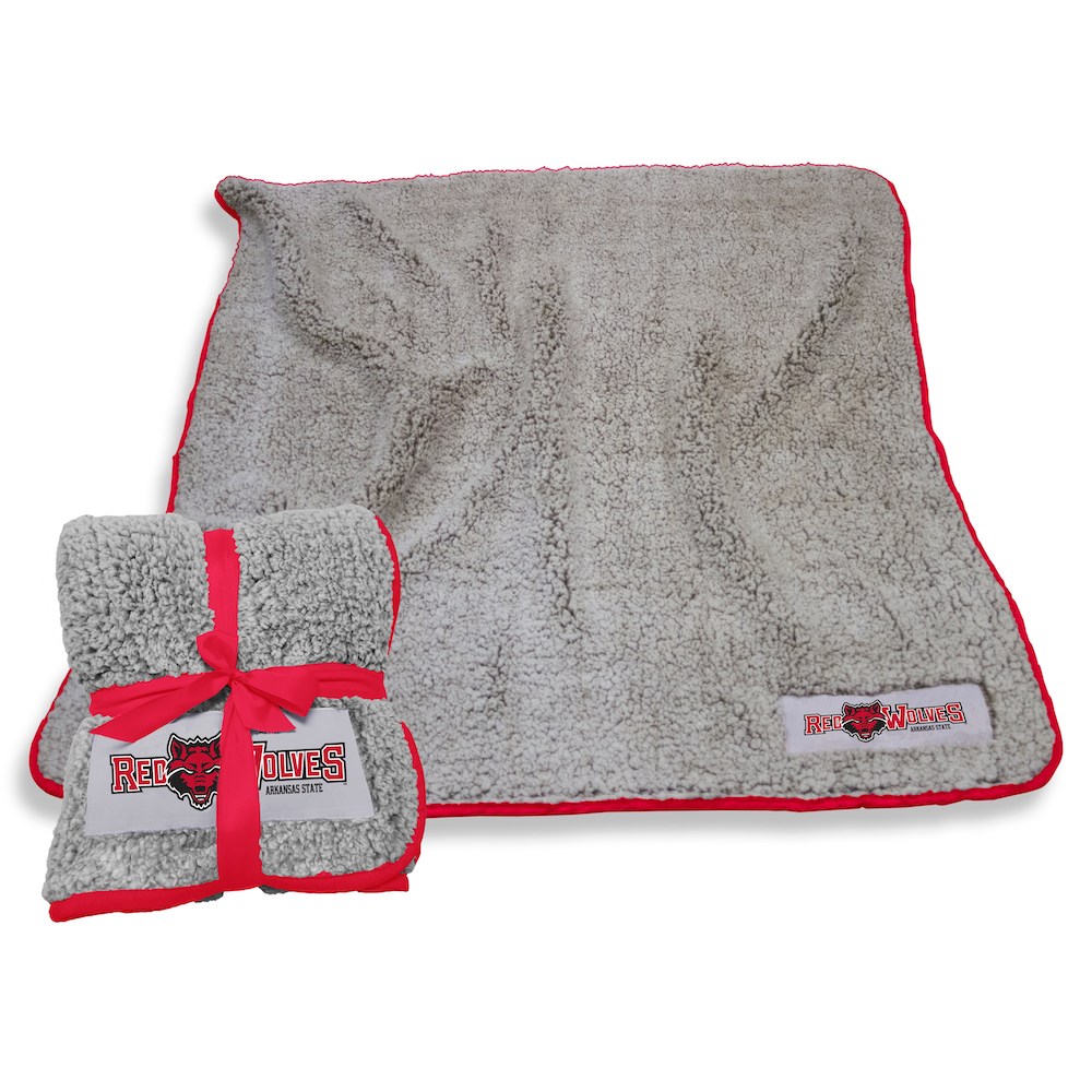 Arkansas State Red Wolves Frosty Throw Blanket