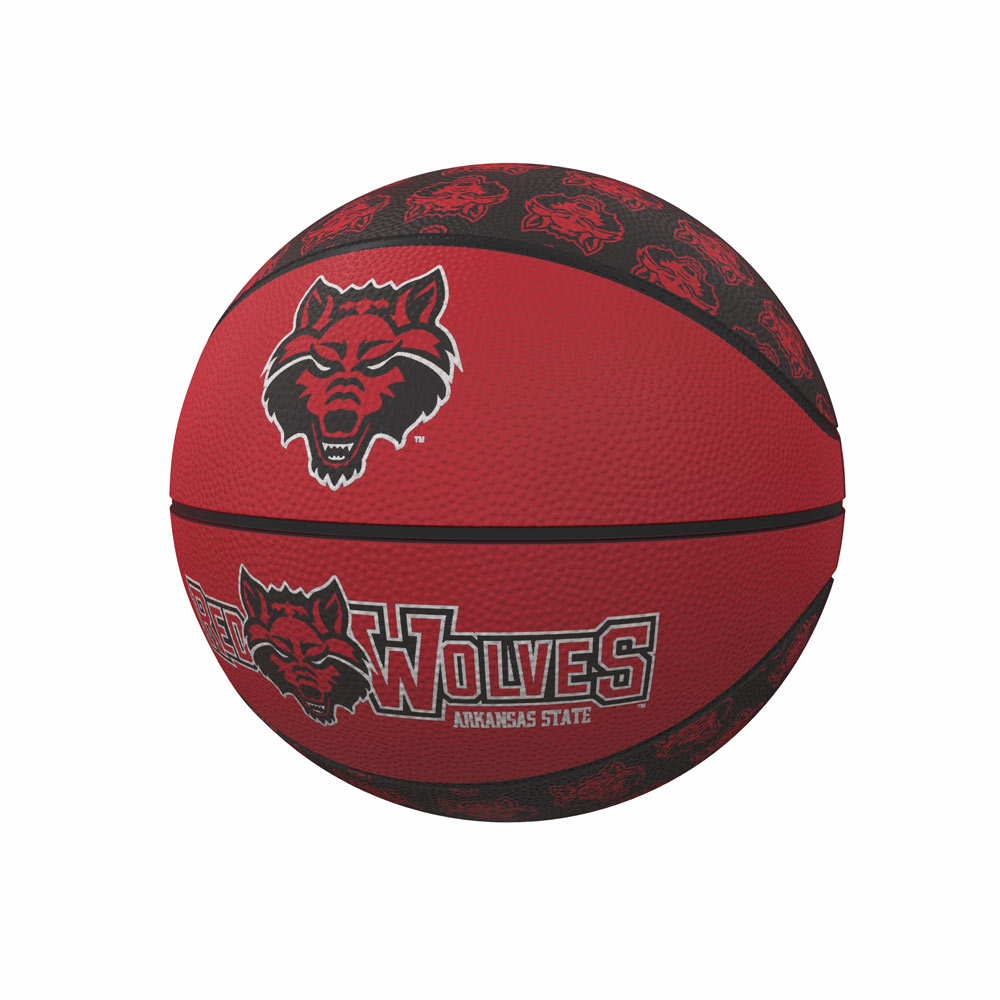 Arkansas State Red Wolves MINI Size Rubber Basketball