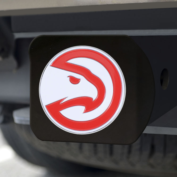 Atlanta Hawks Black and Color Trailer Hitch Cover