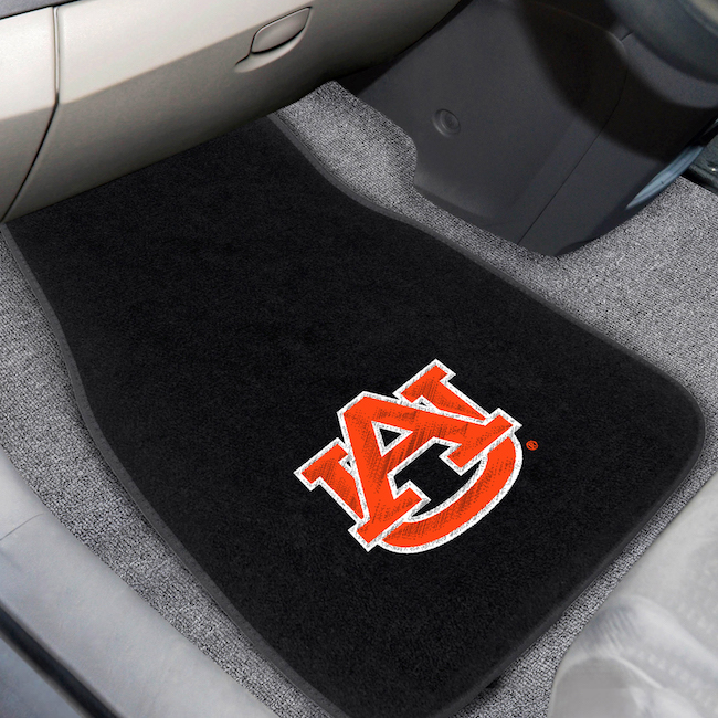 Auburn Tigers Car Floor Mats 17 x 26 Embroidered Pair