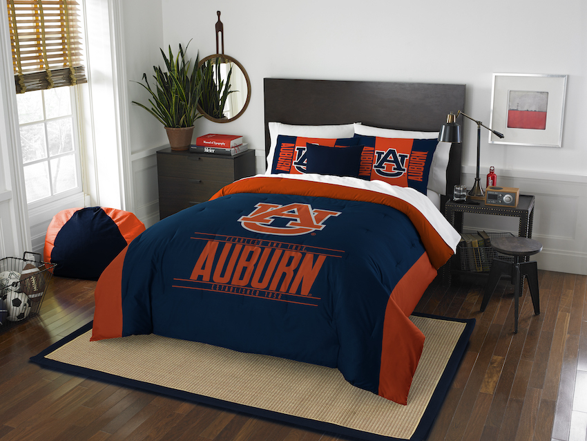 Auburn Tigers QUEEN/FULL size Comforter and 2 Shams