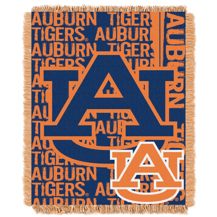 Auburn Tigers Double Play Tapestry Blanket 48 x 60