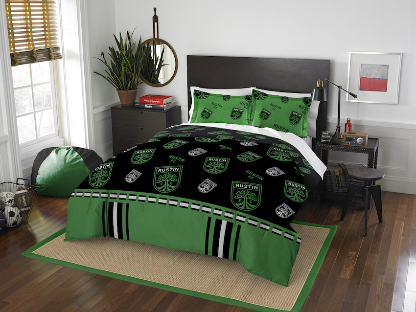 Austin FC QUEEN/FULL size Comforter and 2 Shams