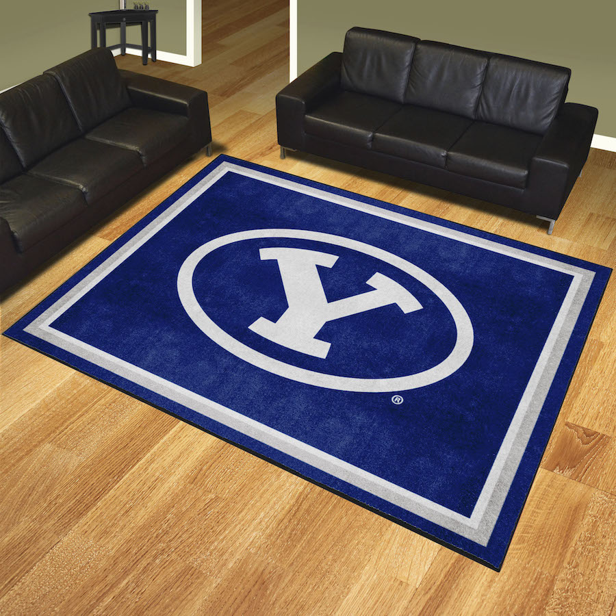 BYU Cougars Ultra Plush 8x10 Area Rug
