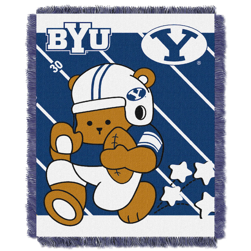 BYU Cougars Woven Baby Blanket 36 x 48
