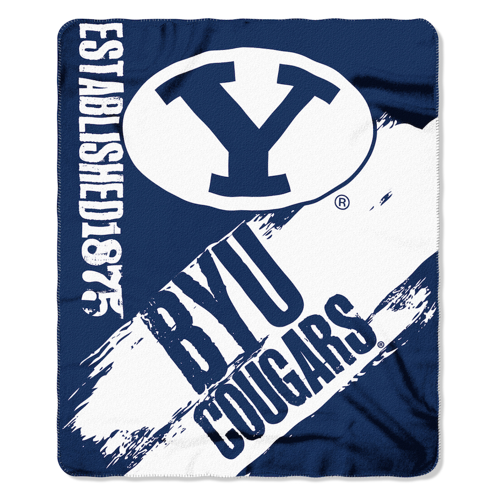 BYU Cougars Fleece Throw Blanket 50 x 60