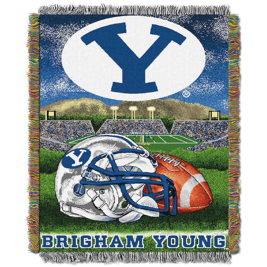 BYU Cougars Home Field Advantage Series Tapestry Blanket 48 x 60