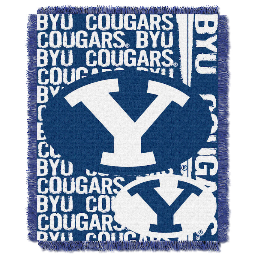 BYU Cougars Double Play Tapestry Blanket 48 x 60