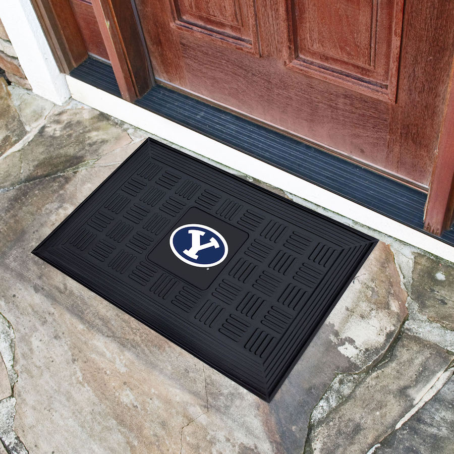 BYU Cougars MEDALLION Vinyl Door Mat