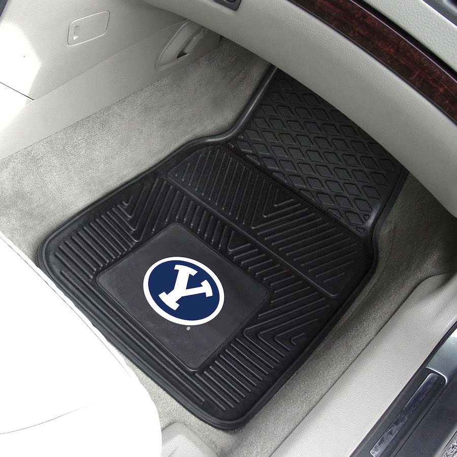 BYU Cougars Car Floor Mats 18 x 27 Heavy Duty Vinyl Pair