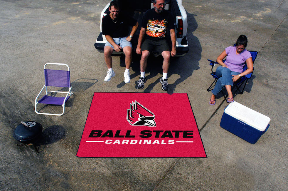 Ball State Cardinals TAILGATER 60 x 72 Rug