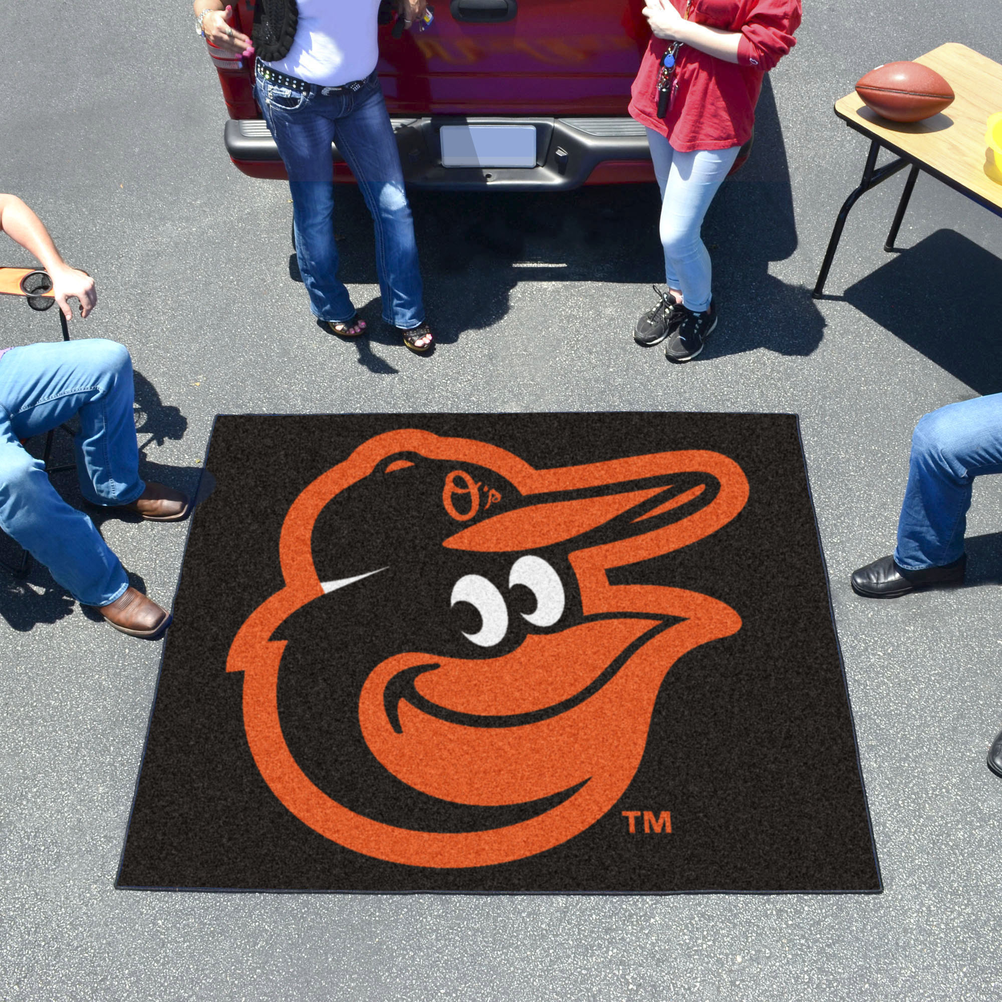 Baltimore Orioles Cartoon Bird TAILGATER 60 x 72 Rug