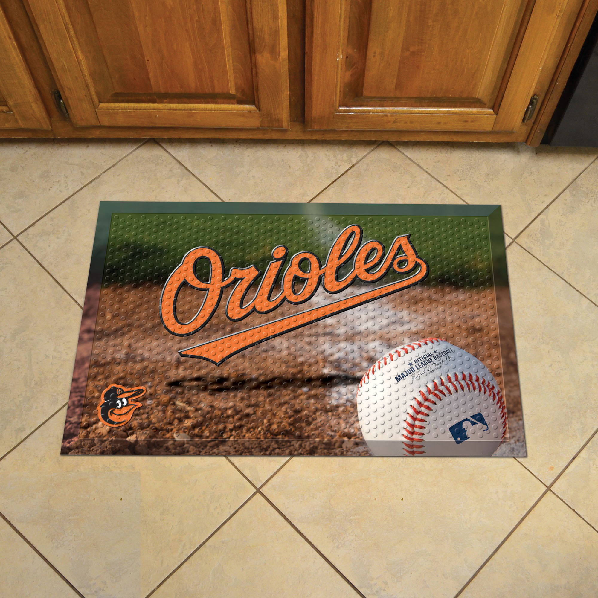 Baltimore Orioles Ball Style SCRAPER Door Mat