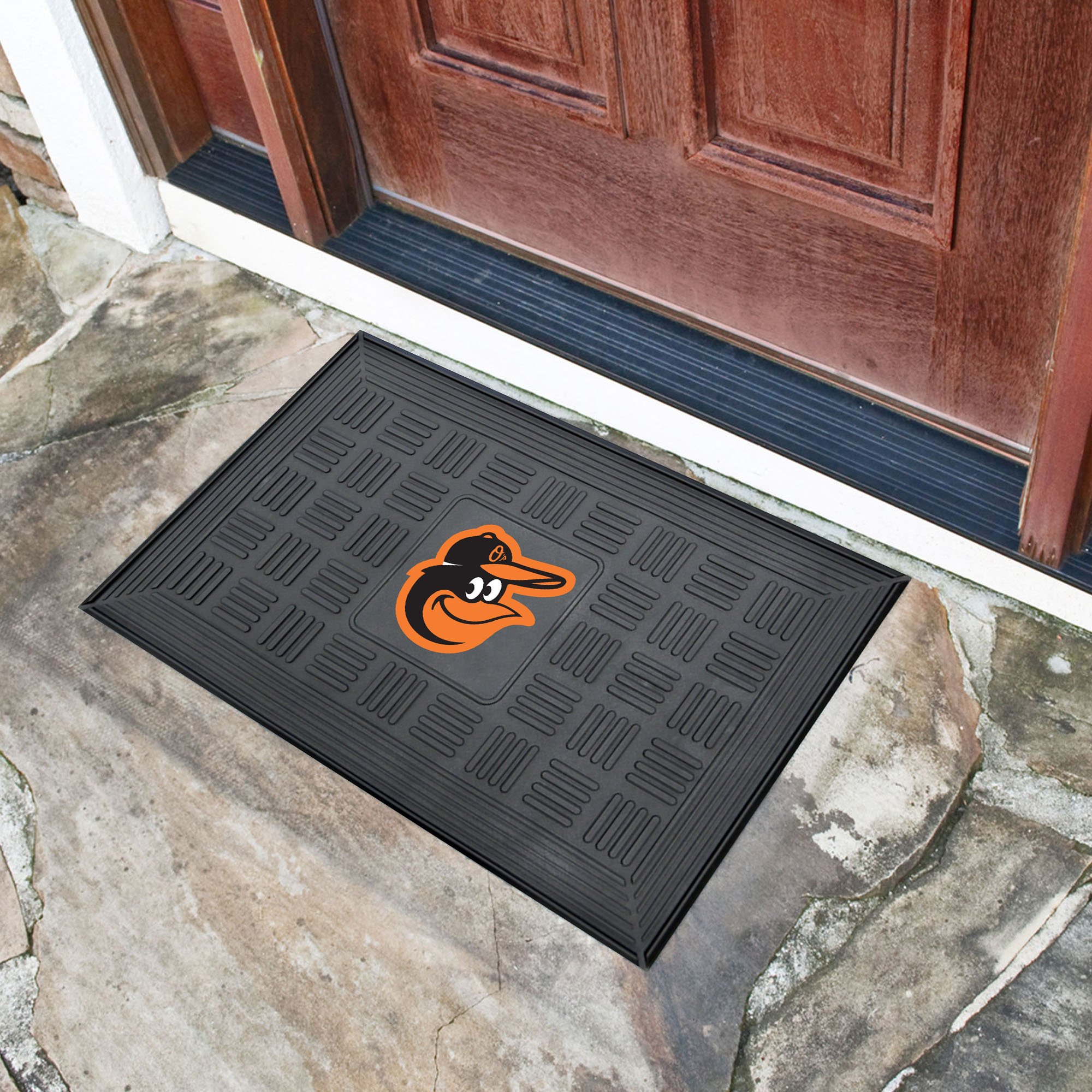 Baltimore Orioles MEDALLION Vinyl Door Mat