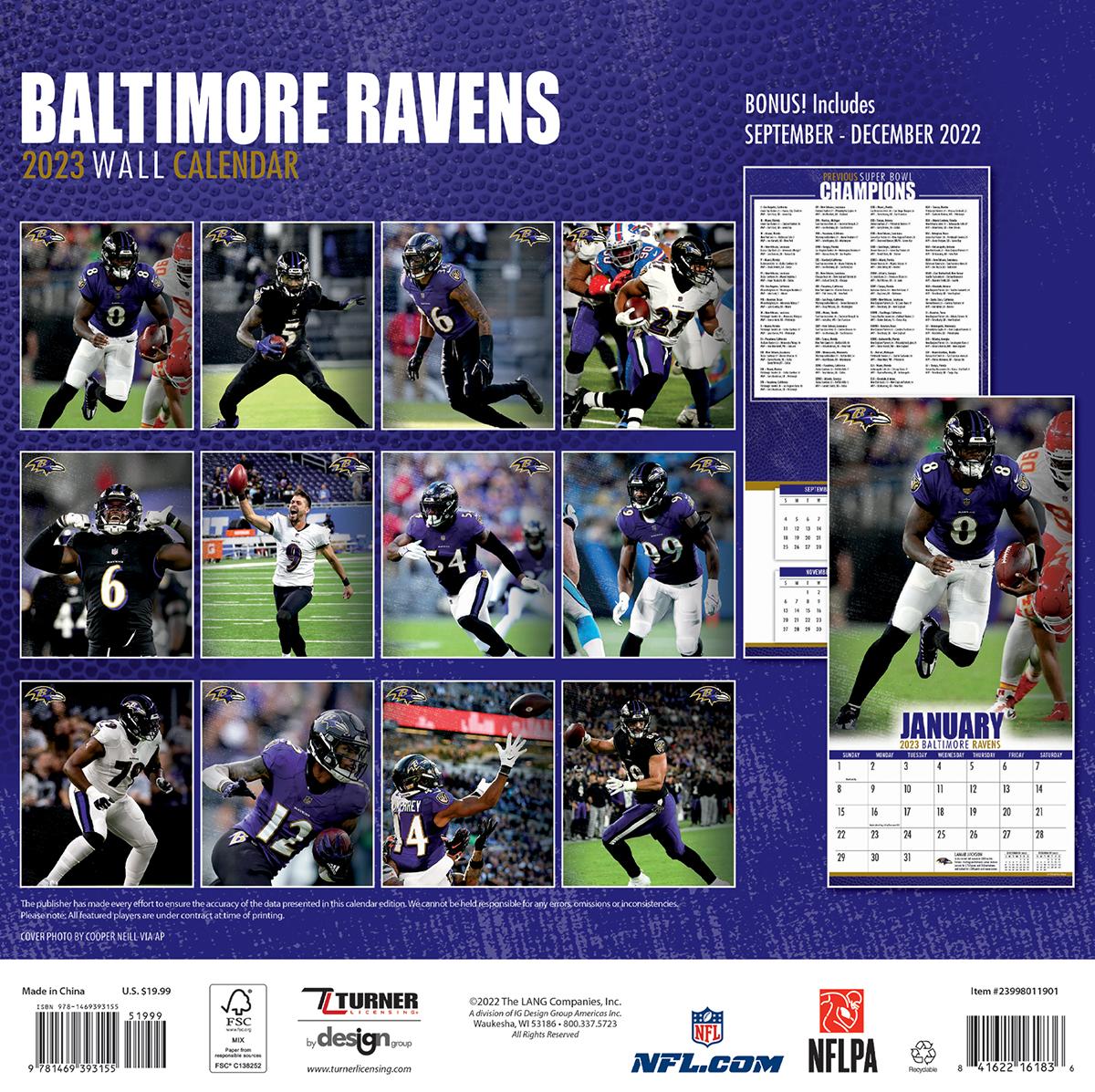Baltimore Ravens 2018 Nfl Mini Wall Calendar Buy At Khc