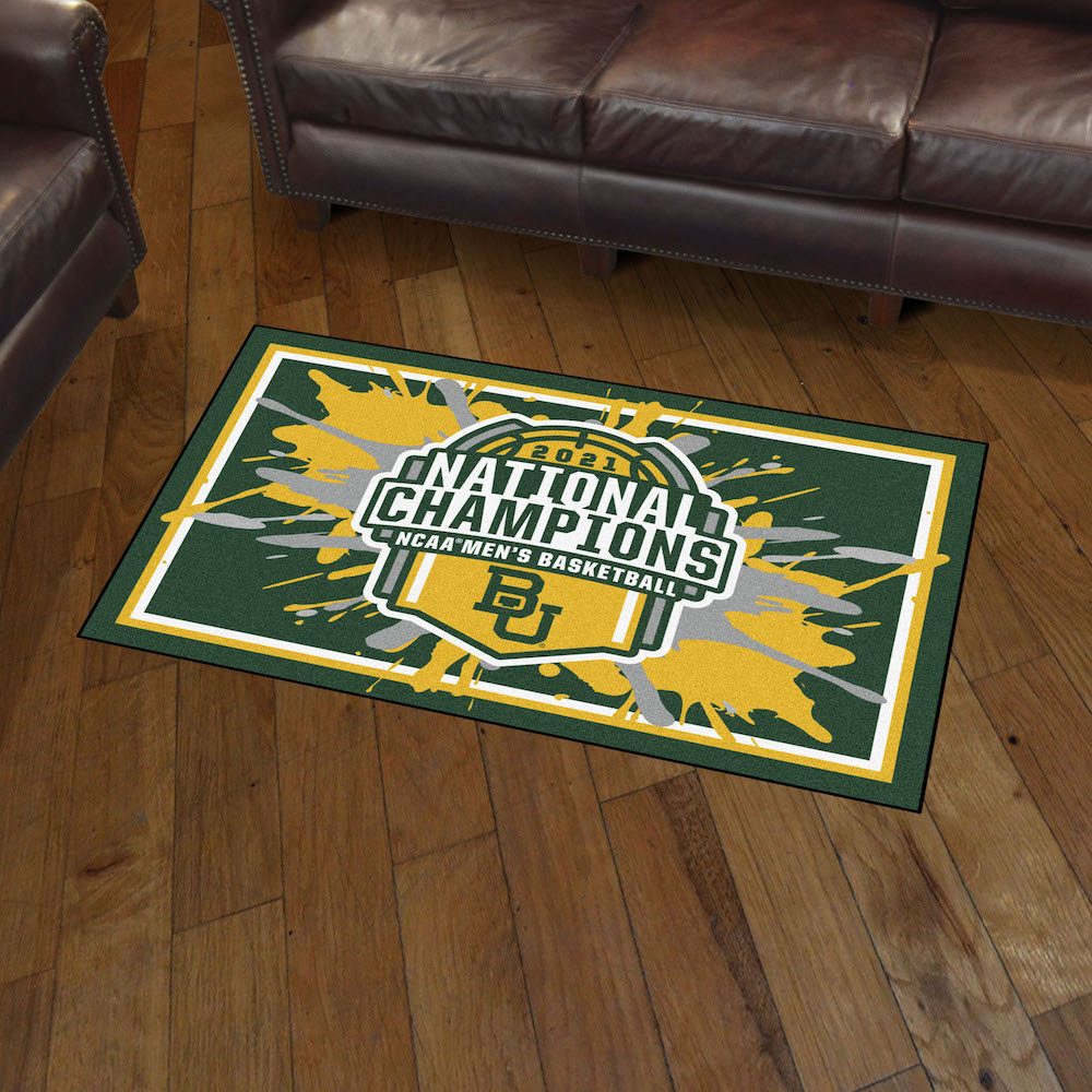Baylor Bears 2021 NCAA Basketball Champs 5x8 Area Rug
