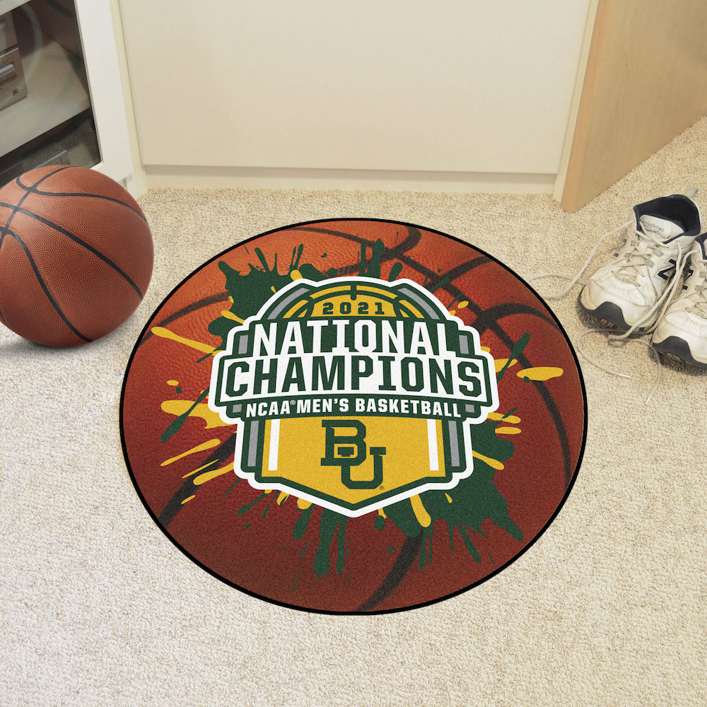 Baylor Bears 2021 NCAA Champs Basketball Mat
