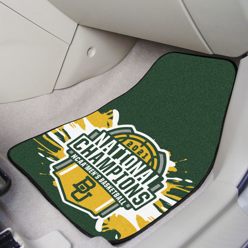 Baylor Bears 2021 NCAA Basketball Champs Carpeted Car Floor Mats