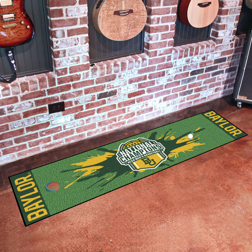 Baylor Bears 2021 NCAA Basketball Champs Putting Green Mat