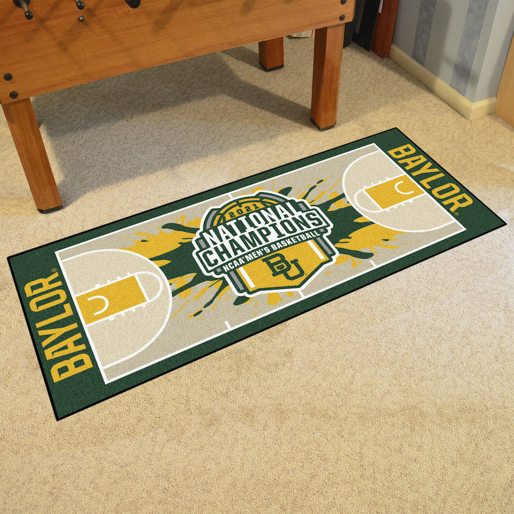 Baylor Bears 2021 NCAA Champs 30 x 72 Basketball Court Carpet Runner