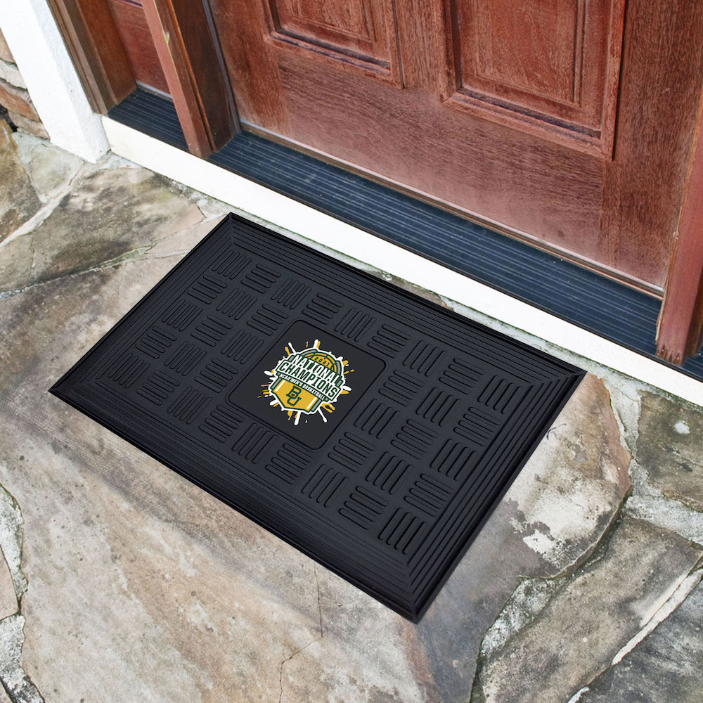Baylor Bears 2021 NCAA Basketball Champs MEDALLION Vinyl Door Mat