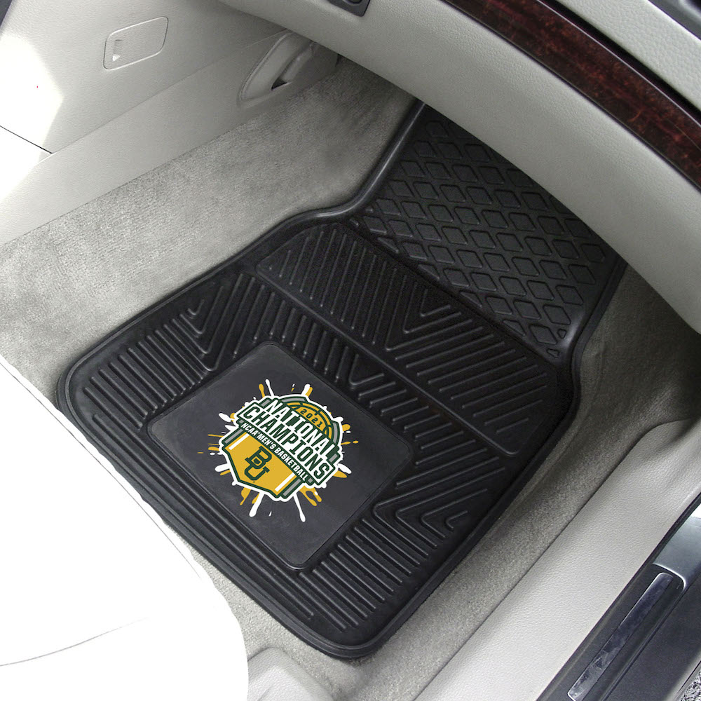 Baylor Bears 2021 NCAA Basketball Champs Heavy Duty Vinyl Car Floor Mats