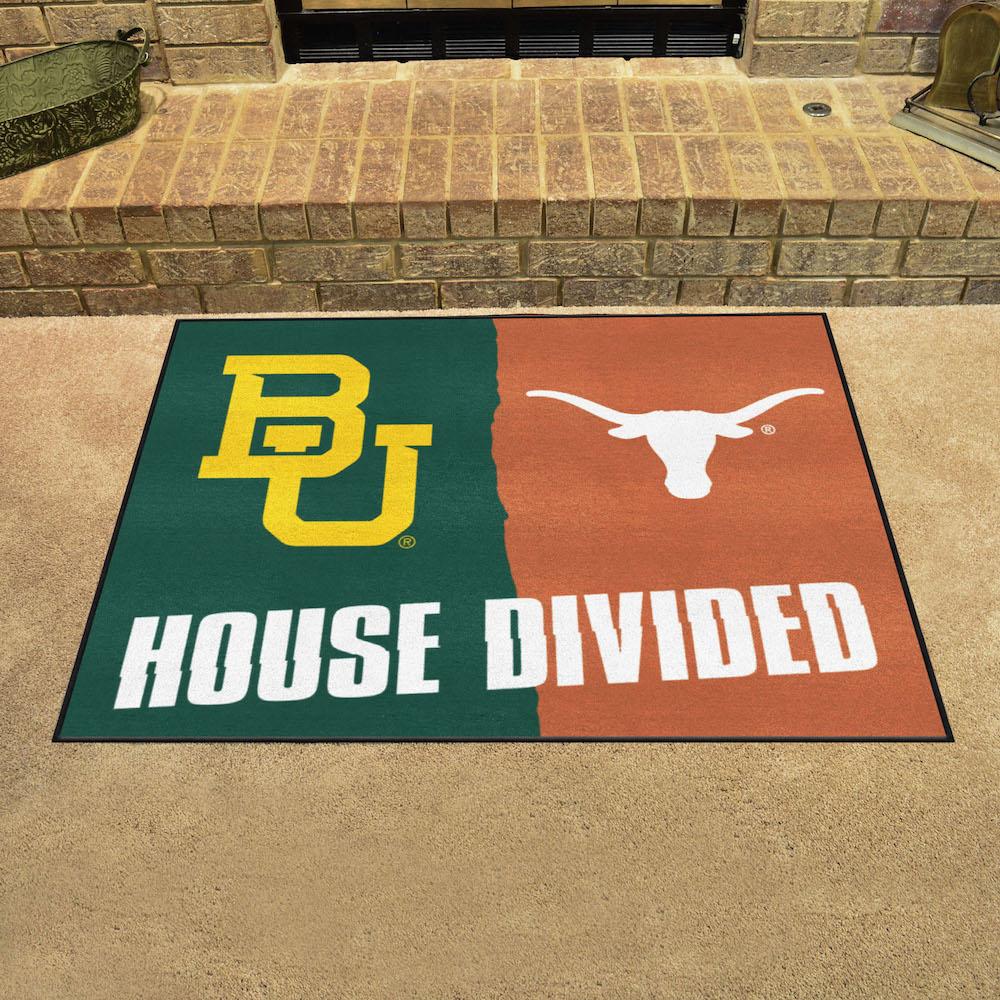 Ncaa House Divided Rivalry Rug Baylor Bears Texas