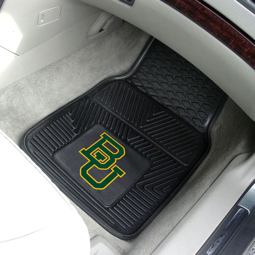 Baylor Bears Car Floor Mats 18 x 27 Heavy Duty Vinyl Pair