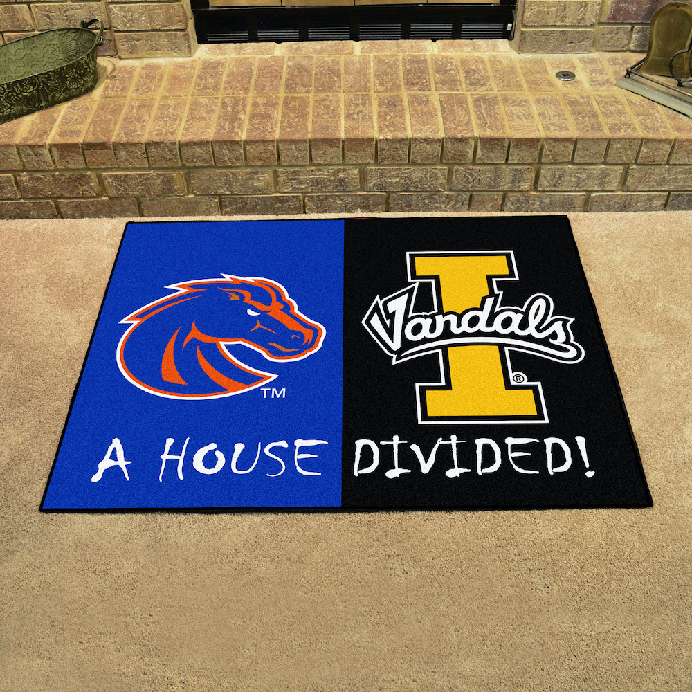 NCAA House Divided Rivalry Rug Boise State Broncos - Idaho Vandals