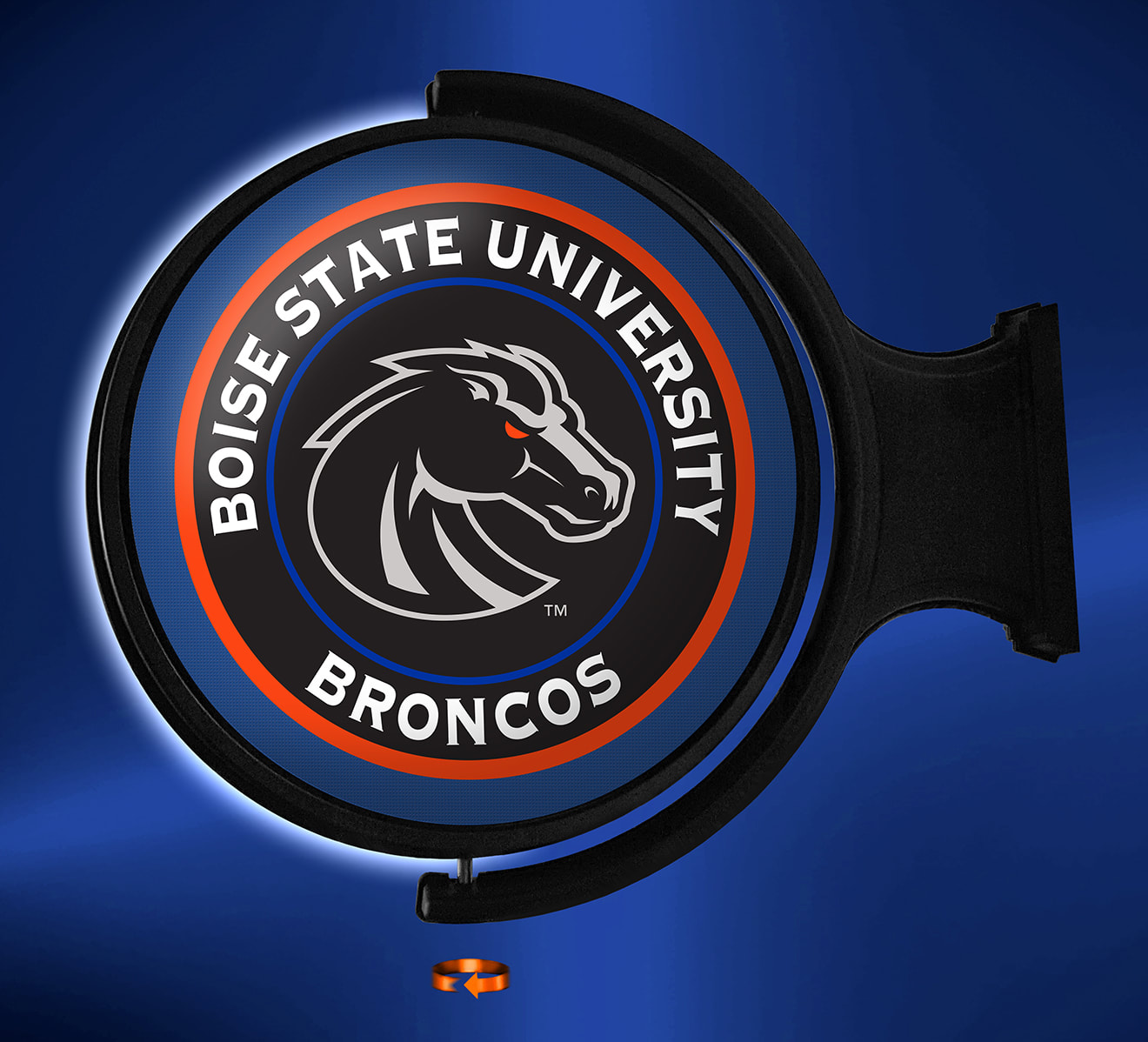 Boise State Broncos LED Rotating Wall Sign ~ BLACK