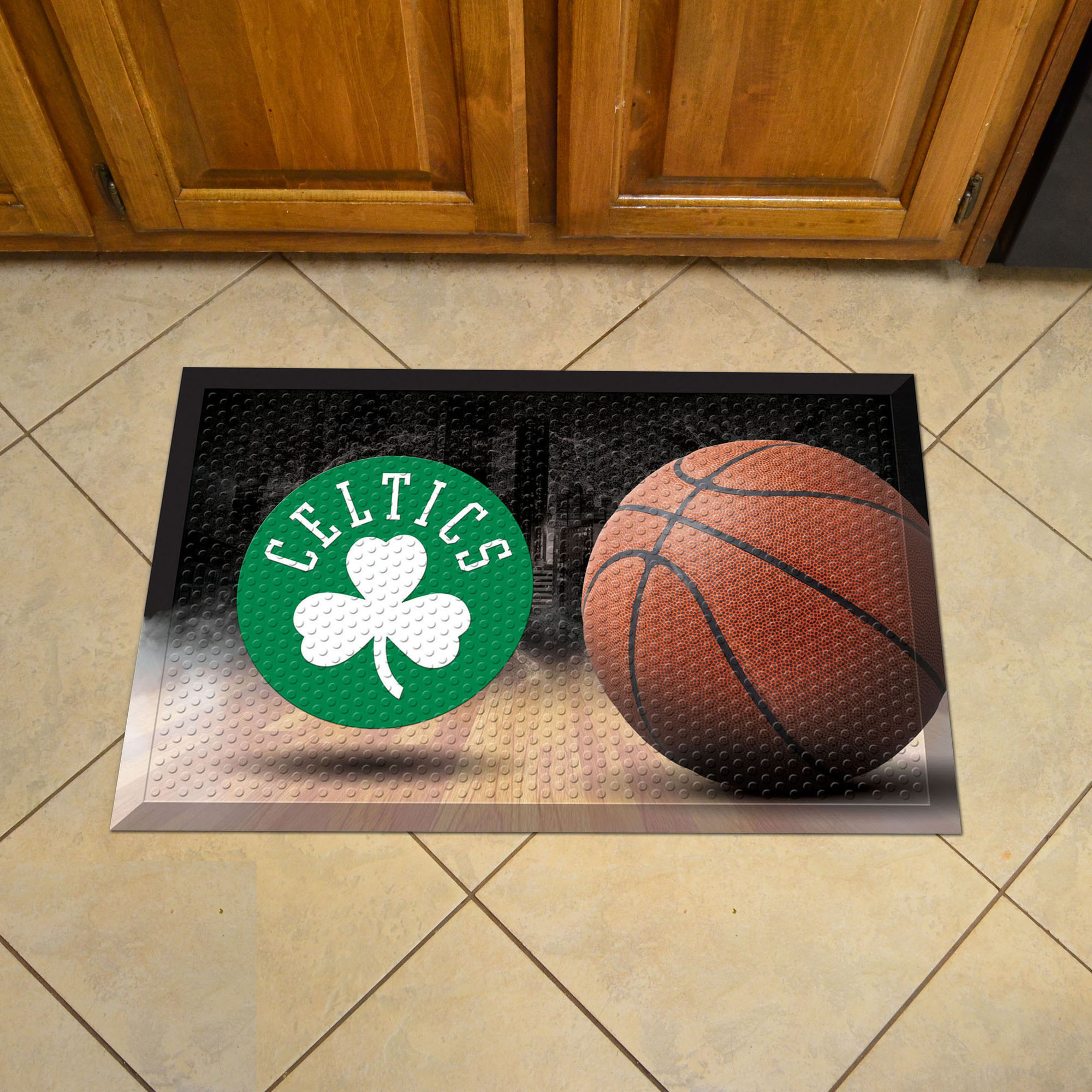 Boston Celtics Ball Style SCRAPER Door Mat