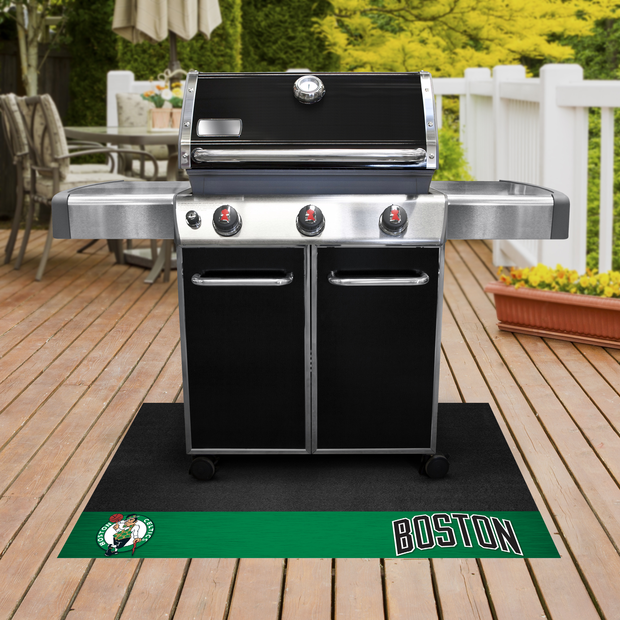 Boston Celtics NBA Grill Mat