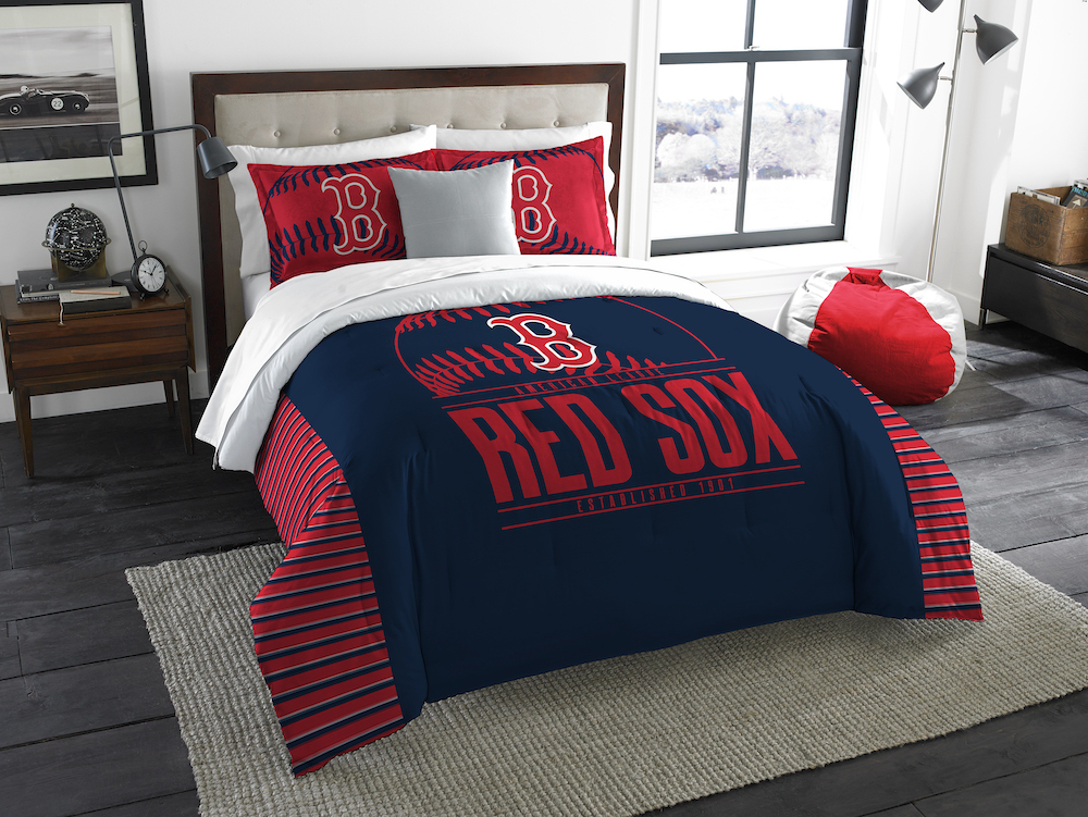 Boston Red Sox King Size Comforter And 2 Shams Buy At