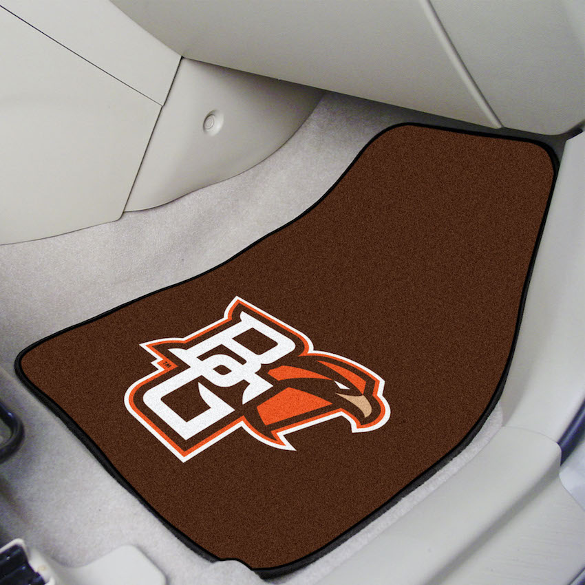 Bowling Green Falcons Car Floor Mats 18 x 27 Carpeted-Pair