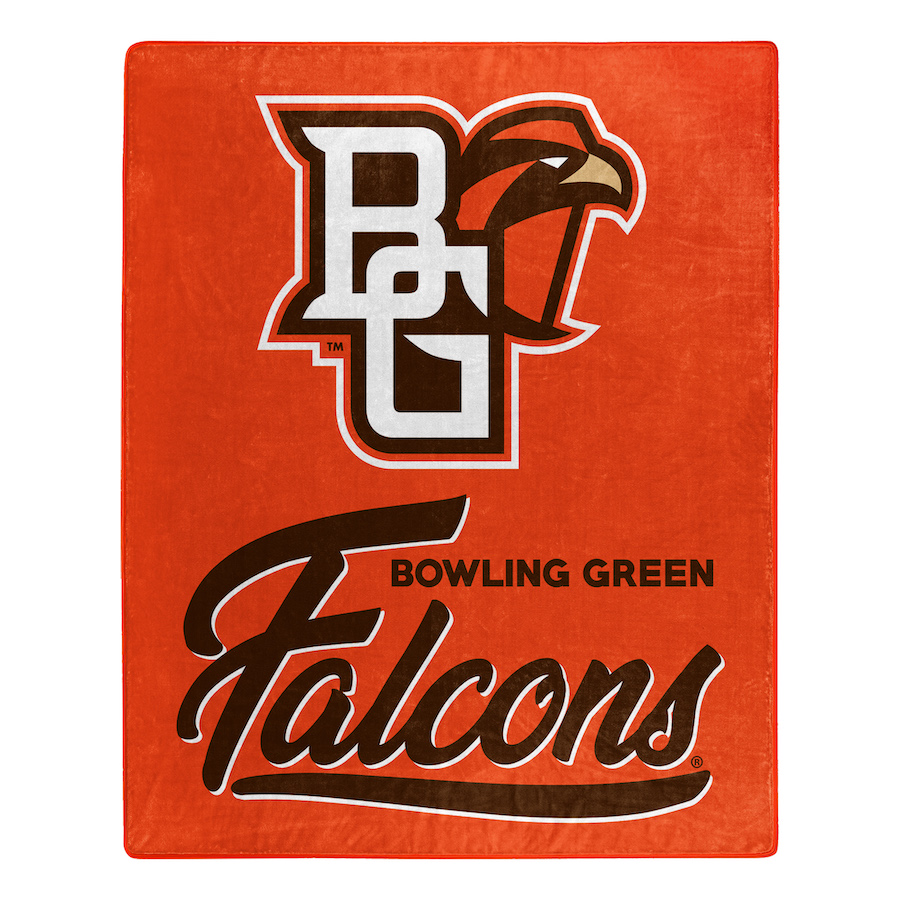 Bowling Green Falcons Plush Fleece Raschel Blanket 50 x 60
