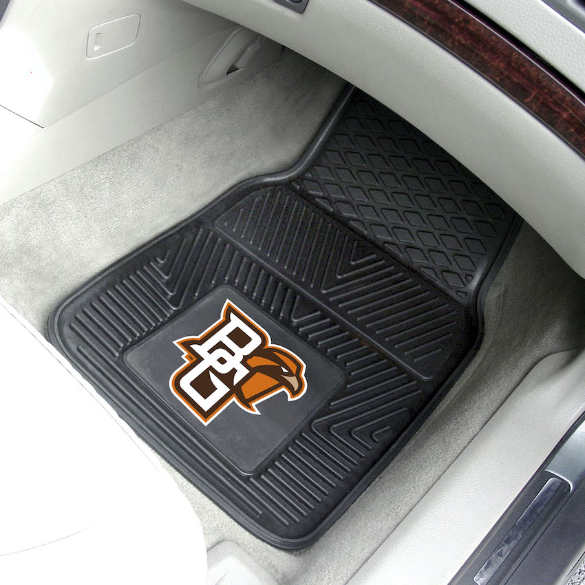 Bowling Green Falcons Car Floor Mats 18 x 27 Heavy Duty Vinyl Pair