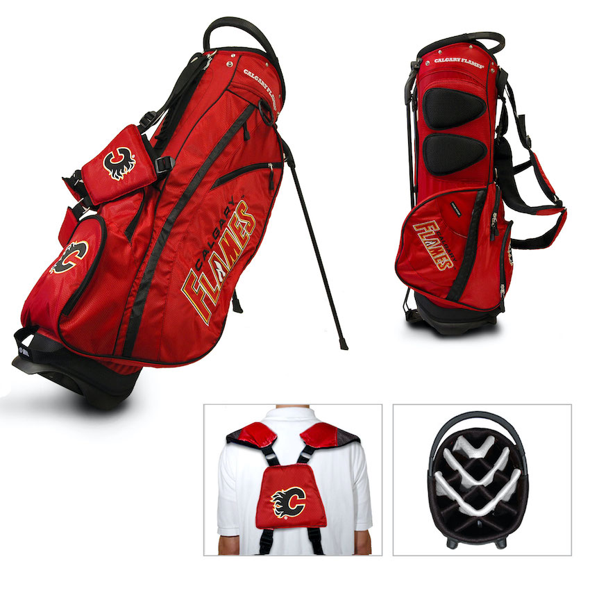 Calgary Flames Fairway Carry Stand Golf Bag