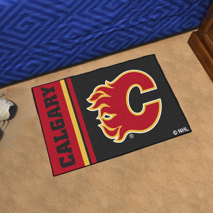 Calgary Flames 20 X 30 Uniform Inspired Starter Rug Buy