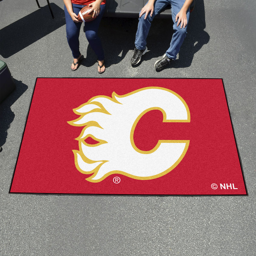 Calgary Flames Tailgater 60 X 96 Rug Buy At Khc Sports