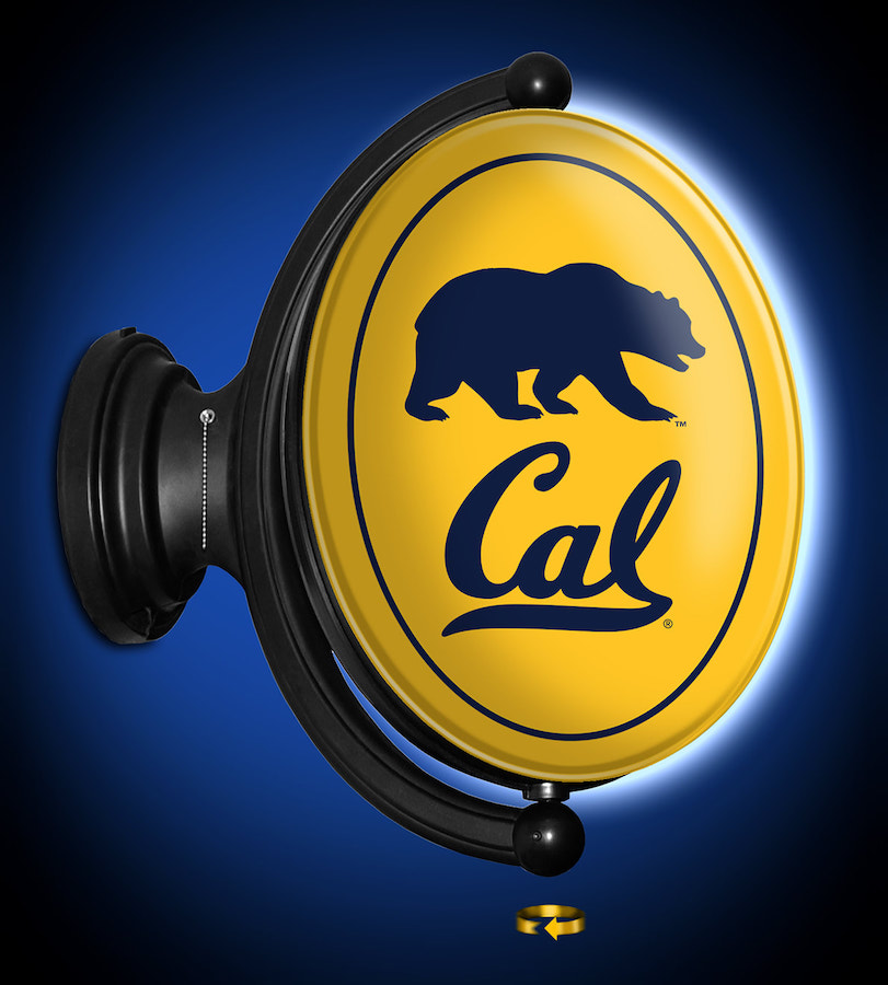 California Golden Bears LED Rotating Wall Sign ~ OVAL P
