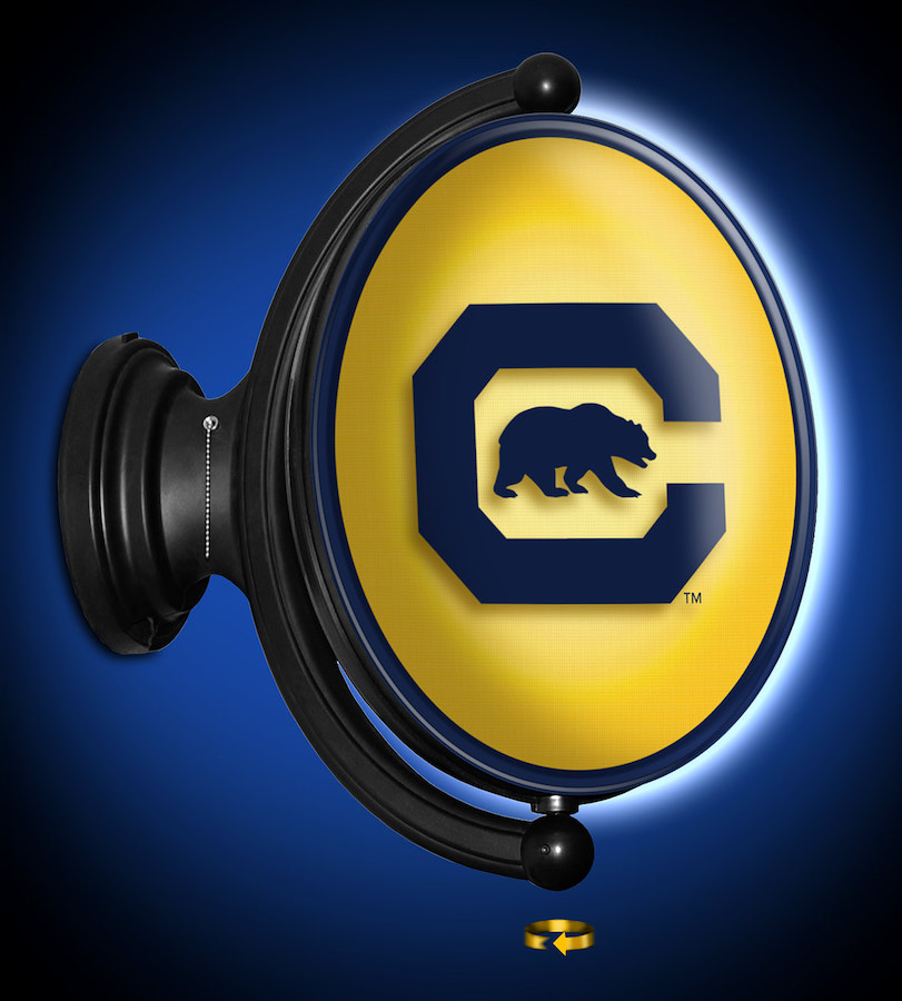 California Golden Bears LED Rotating Wall Sign ~ OVAL S
